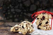 Free Cranberry And White Chocolate Chip Cookies Royalty Free Stock Image - 26914936