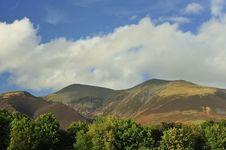 Scafell Mountain Range, Cumbria, England Stock Image