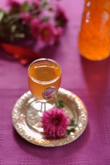 Free Gooseberry Liqueur With Vanilla And Ginger Stock Photos - 26916063