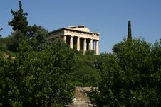 Temple At The Agora, Greece Royalty Free Stock Photo