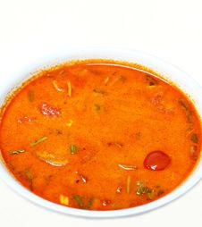 Thai Seafood Curry Stock Photography