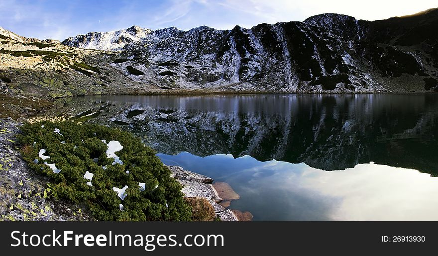 Alpine lake reflection - Retezat Mountains