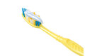 Free Yellow Toothbrush Coated With A Toothpaste Royalty Free Stock Photos - 26926558
