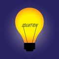 Free Concept Bulb With Filament Replaced By Solution Royalty Free Stock Images - 26928399