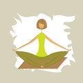 Free Stylized Yoga Lotus Pose. Stock Photography - 26928662