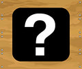 Free Question Mark On Brown Wooden Background Royalty Free Stock Photography - 26929387