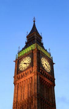 Free Big Ben At Sunset, London. Stock Image - 26921671