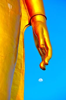 Large Golden Buddha Statue Stock Image