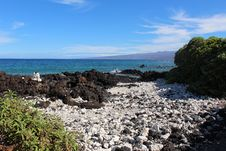 Free Hawaii Rocky Beach Landscape Stock Photography - 26923812