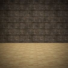 Free Wood Floor And Grunge Wall Royalty Free Stock Images - 26925079