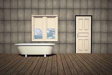 Free Old Style Bathtub In A Retro Bathroom Royalty Free Stock Photo - 26925095
