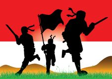 Free Silhouette Of Indonesian Army Royalty Free Stock Image - 26925836