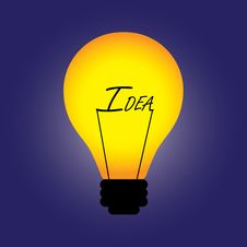 Concept Bulb With Filament Replaced By Idea Word Stock Photo