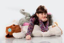 Free Cheerful Girl Playing Stock Photos - 26926433
