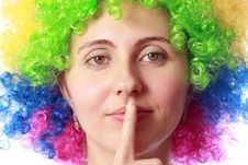 Free Woman With Clown Hair Stock Photography - 26927602