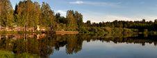 Free Evening Coast Of The Lake Royalty Free Stock Image - 26928486