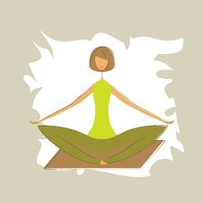 Free Stylized Yoga Lotus Pose. Stock Photography - 26928662