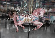 Free Pink Carousel Horse Royalty Free Stock Photo - 26929675
