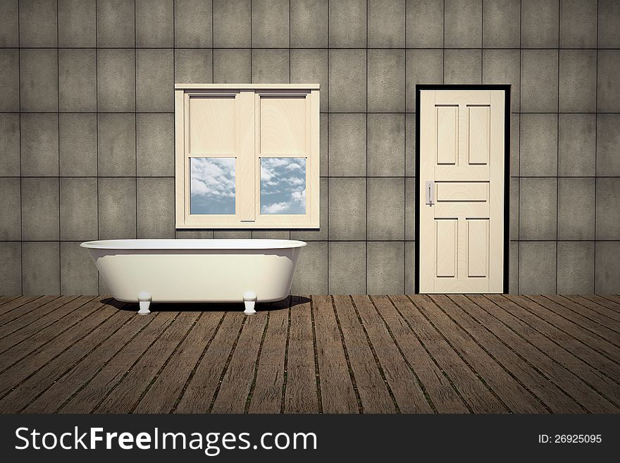 Old Style Bathtub In A Retro Bathroom - Free Stock Images & Photos ...