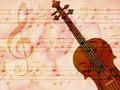 Free Soft Grunge Music Background With Violin Stock Photos - 26930223