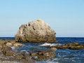 Free Big Rock In The Black Sea. Crimean Peninsula. Stock Image - 26933871