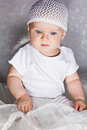 Free Astonished Infant Looking Down Royalty Free Stock Image - 26935696