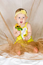 Free Baby With Flower Royalty Free Stock Photo - 26935815