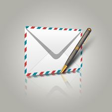 Free Envelope And Pen Stock Photos - 26930033