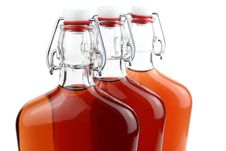 Free Three Old-fashioned Bottles With Alcohol Stock Photos - 26930183