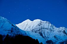 Free Gangapurna And Annapurna Mountains Royalty Free Stock Photos - 26930278