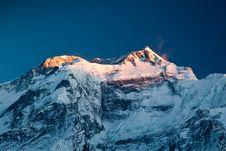Free Annapurna In Sunrise Light Stock Photography - 26930382