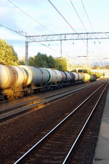 Free Tanks With Fuel  By Rail Royalty Free Stock Image - 26930396