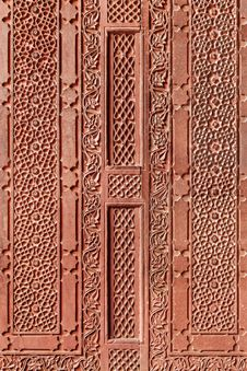 Free Geometrical Pattern On Red Fort Royalty Free Stock Image - 26930546