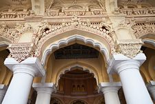 Free Arches Of Thirumalai Palace Stock Images - 26931014