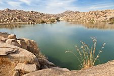 Free Beauty Lake In Hampi Royalty Free Stock Images - 26931189