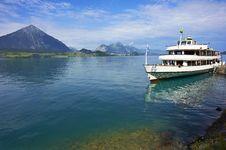 Free Passenger Boat, Lake Thun, Switzerland Stock Photography - 26931832