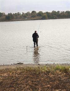 Free Fishing In A Lake Stock Image - 26932601
