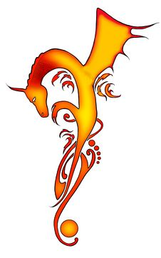 Free Abstract Dragon Tribal Tattoo Royalty Free Stock Photo - 26933775