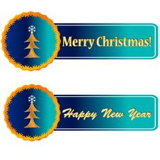 Free Christmas And New Year Icons Royalty Free Stock Images - 26933919