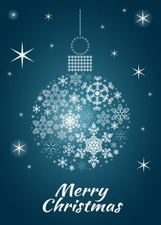 Snowflake Bauble Postcard Royalty Free Stock Image