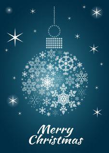 Free Snowflake Bauble Postcard Royalty Free Stock Image - 26934116
