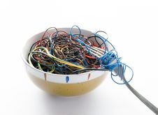 Free Cyber Noodles Stock Photography - 26934692