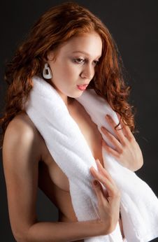 Free Woman With Towel Stock Photography - 26936522