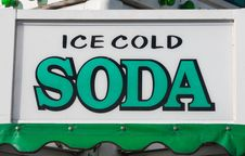 Free Ice Cold Soda Sign Royalty Free Stock Photo - 26937315
