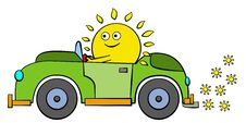 Free Sun Drives Royalty Free Stock Photos - 26939768