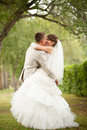 Free Bride And Groom Hugging Royalty Free Stock Images - 26943039