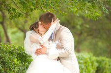 Free Bride And Groom Kissing Royalty Free Stock Photo - 26943025