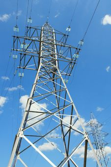 Free Two Electricity Pylons Royalty Free Stock Photos - 26944498