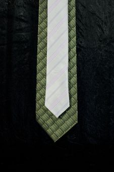 Gray And Green Necktie Royalty Free Stock Photos