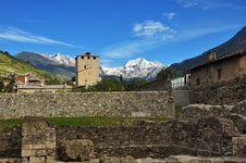 Free City Of Aosta, Italy. Roman Ruins Stock Photography - 26946692